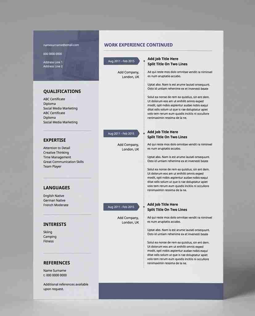Cover Letter Strong Work Ethic: Minimalist Resume Template