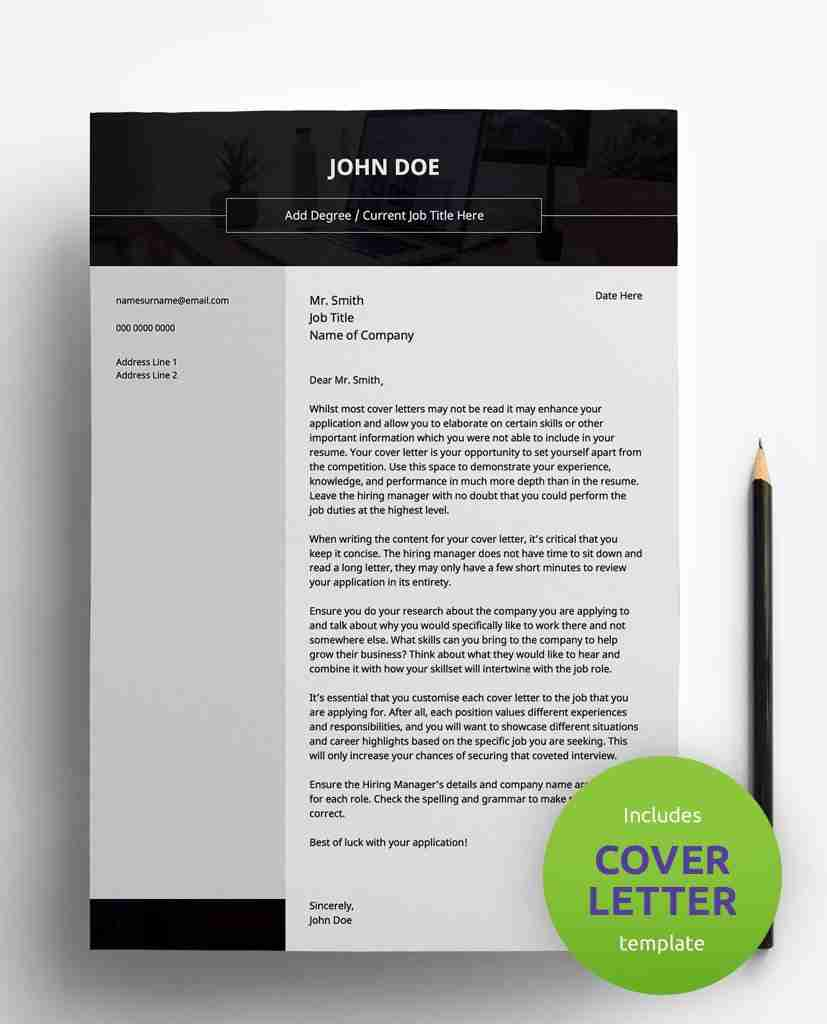 best resume examples - bold monochrome