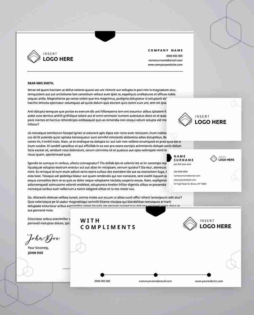 business stationery templates bundle